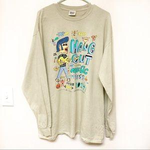 Hang Out Music Festival Long Sleeve Tee Shirt XL